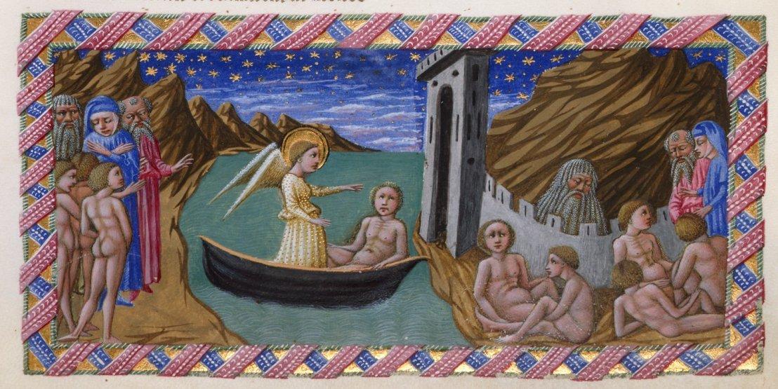Ilustración de Priamo della Quercia, pintor e ilustrador renacentista italiano. Fuente: https://commons.wikimedia.org/wiki/File:Priamo_dell_quercia,_purgatorio_02_dante.jpg