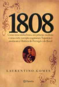 "Portada de ""1808"", de Laurentino Gomes"
