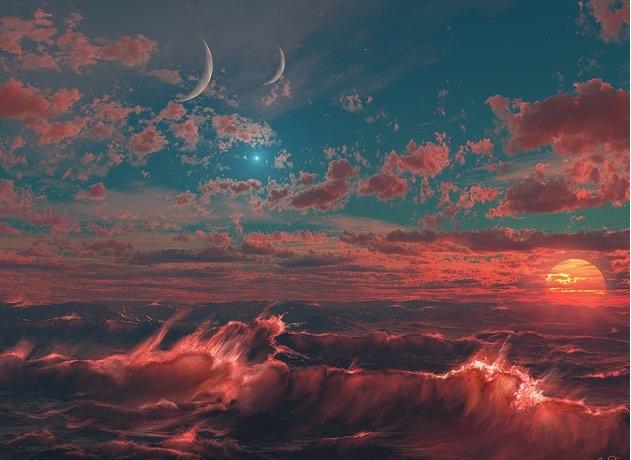 red-violent-planet
