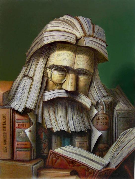 Hombre hecho de libros