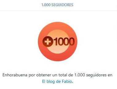 Mil seguidores en WordPress