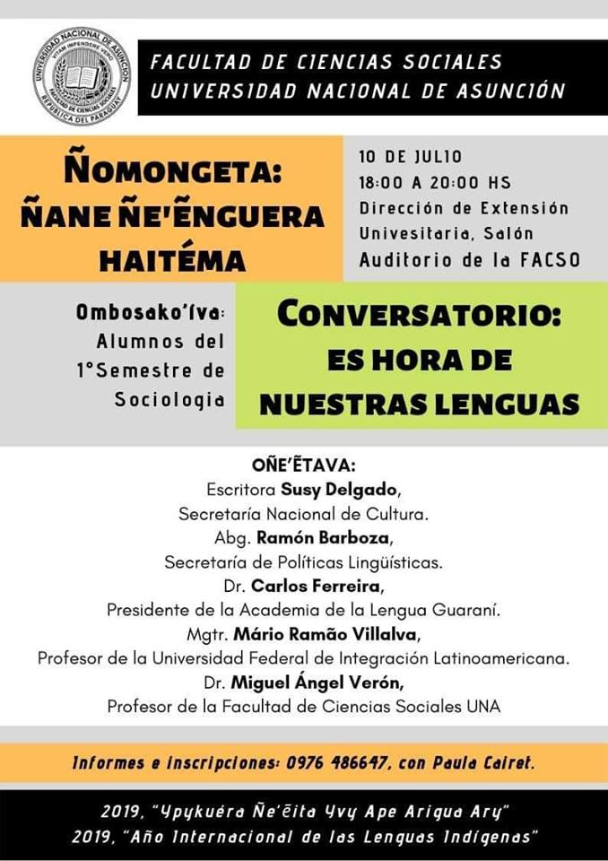 Conversatorio lenguas Paraguay