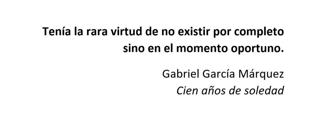 Epígrafe García Márquez